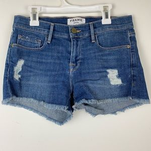 Frame Le Cutoff denim shorts size 25